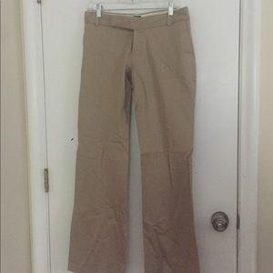 Tan brown tweed gap stretch dress pants